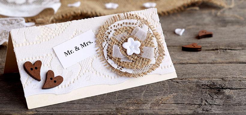Placeringskort för bröllopet